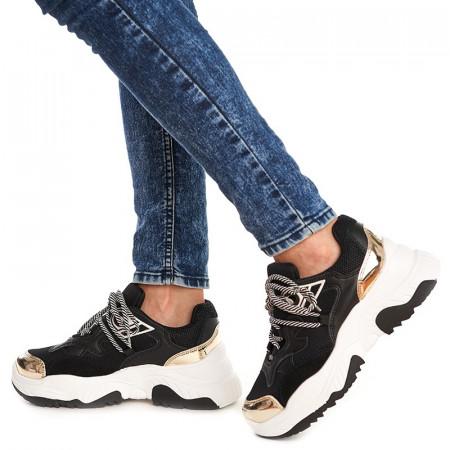Sneakers trendy Sofia negru