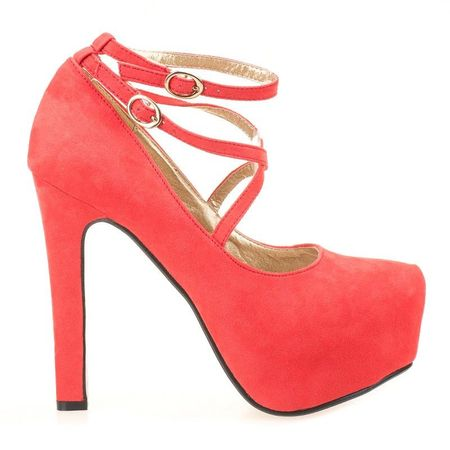 Pantofi cu platforma Luiza rosii