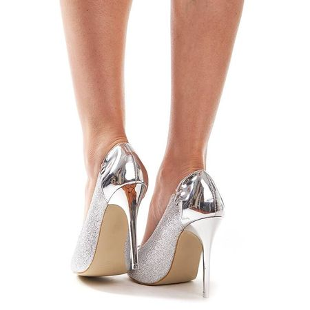 Pantofi cu toc de ocazie Amira argento