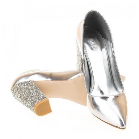 Pantofi stiletto cu toc glitter Amira