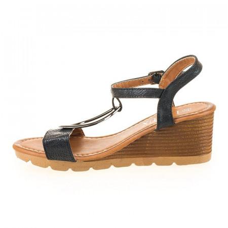 Sandale casual cu platforma Maria negru