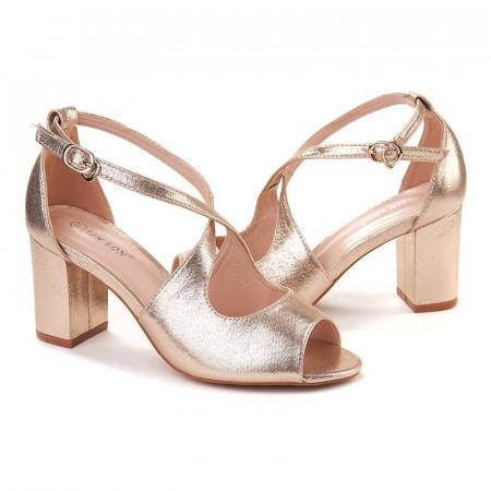 Sandale chic cu toc mic Layla oro