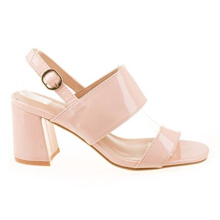 Sandale cu toc chic Maria roz