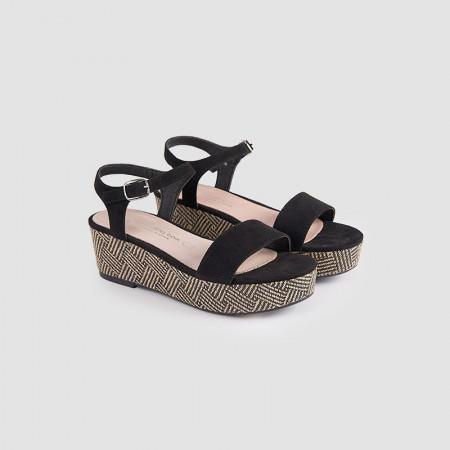 Sandale dama, CLARISA, Negru MF