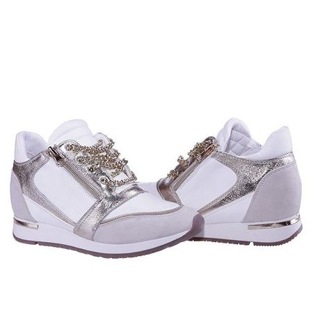 Sneakers Dyna white gold