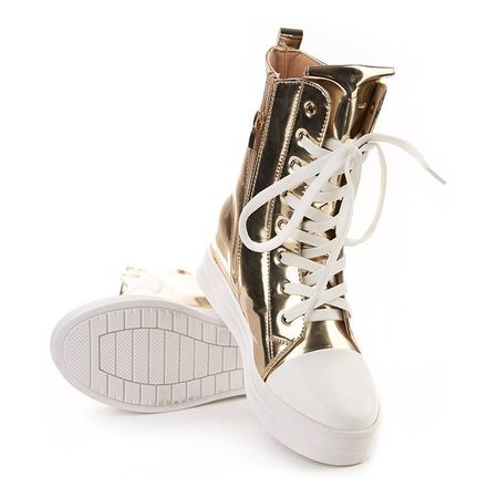 Sneakers inalti metalic Salma oro