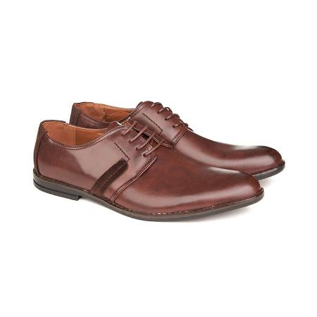 Pantofi casual barbati cu șiret Alexandru maro