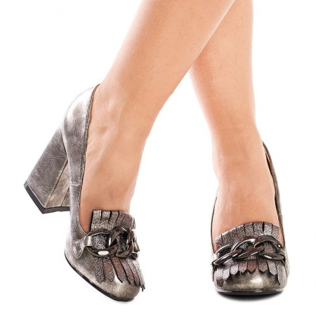 Pantofi cu toc gros trendy Alexa