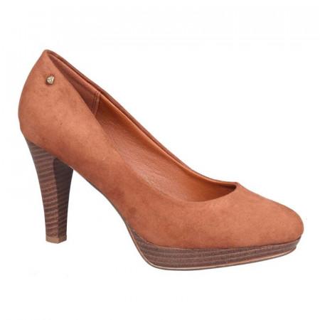 Pantofi dama, casual cu toc mic Tan