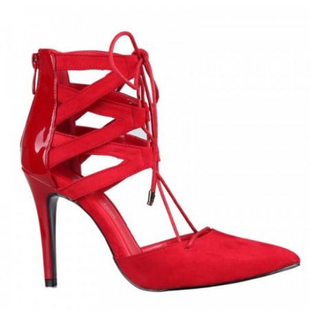 Pantofi dama eleganti, Rosu