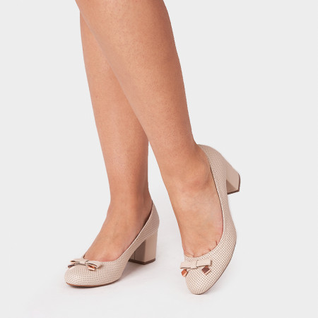 Pantofi dama, RONA, Beige