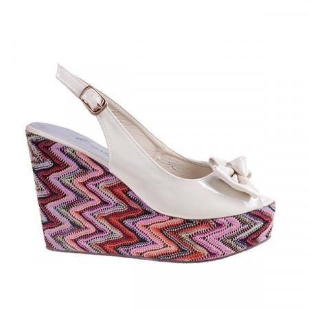 Sandale cu platforma Flower me