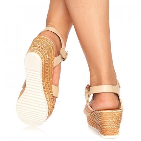 Sandale cu platforma Lorita bej