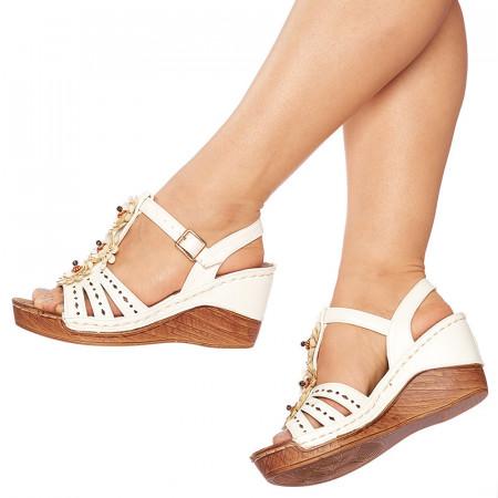 Sandale cu platforma Luigia alb