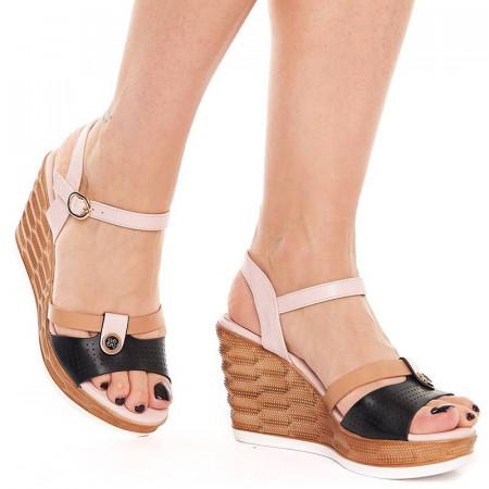 Sandale cu platforma Olivia beige