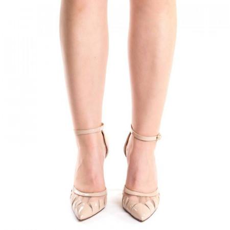 Sandale cu toc elegante Alessa nude
