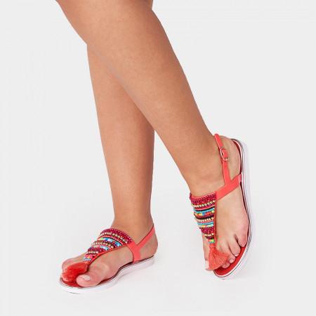 Sandale dama, casual, Rosu