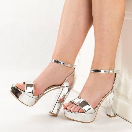 Sandale de ocazie cu toc si platforma Anita
