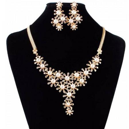 Colier bijuterie eleganta Reina Micaela in set de colier si cercei