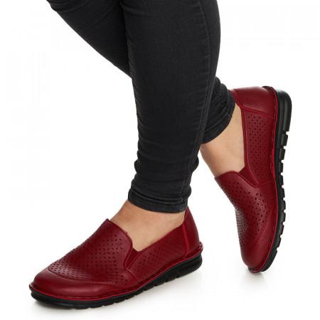 Pantofi casual cu talpa usoara Adelajda rosu
