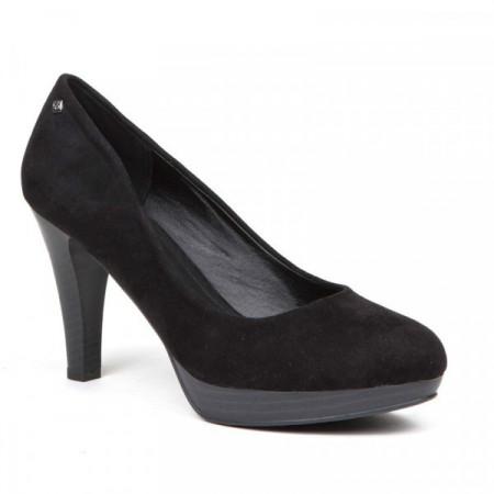 Pantofi dama, casual cu toc mic Negru