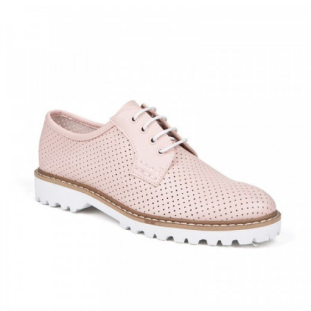 Pantofi dama, casual, Pink cu siret