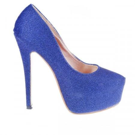 Pantofi Elmira albastri