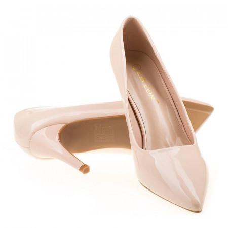 Pantofi stiletto chic Tania bej