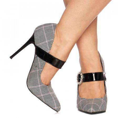 Pantofi stiletto cu toc inalt Amira