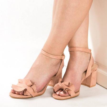 Sandale cu toc cu funda Antonia