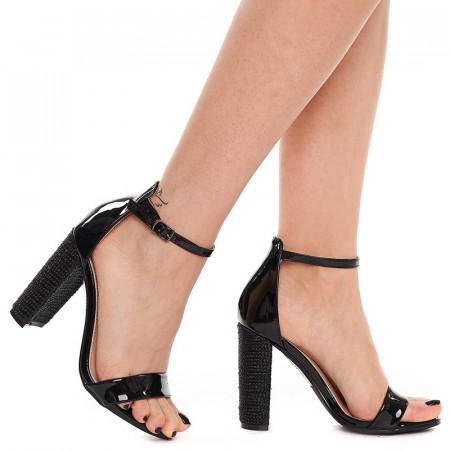 Sandale cu toc gros elegante Antonia negre
