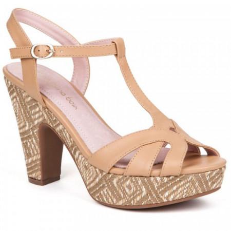 Sandale dama, CLARA, Beige