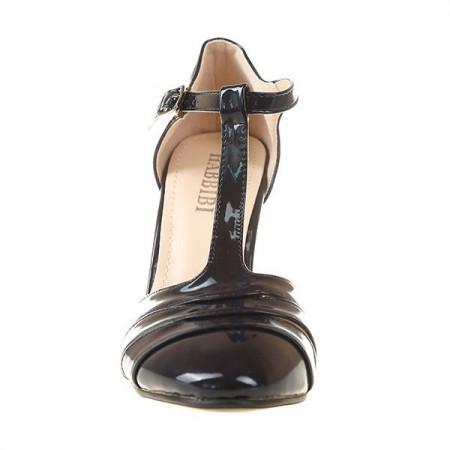 Sandale din lac cu toc Linda