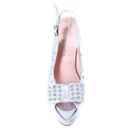 Sandale platforma Precious argintii