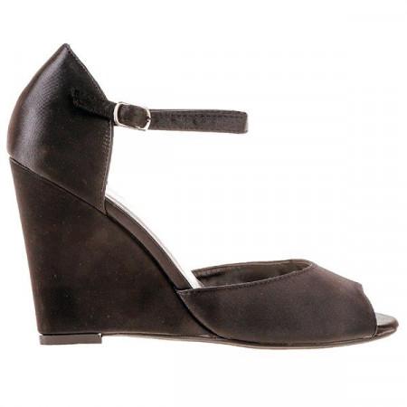 Sandale satin Evelinne negre