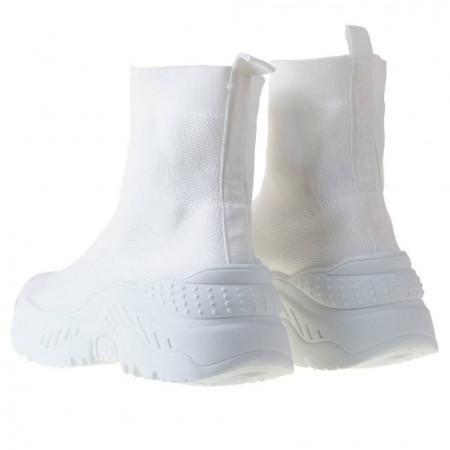 Sneaker trendy din textil elastic Andra wht