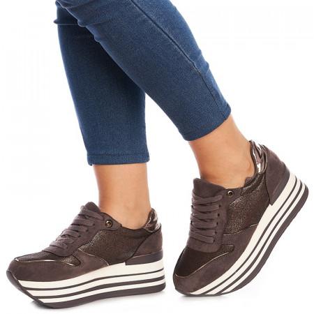 Sneakers cu talpa inalta Alberta grey