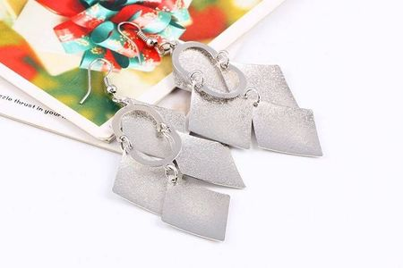Cercei trendy Marcia argintii