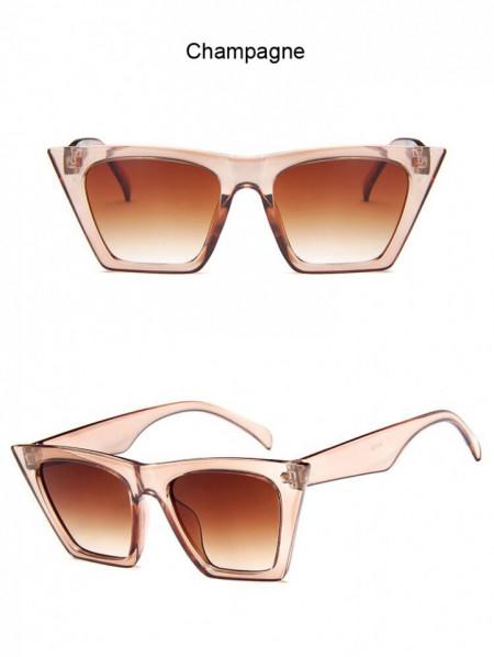 Ochelari de soare vintage cu model patrat Giuliana champagne