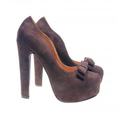 Pantofi cu platforma maro Ego