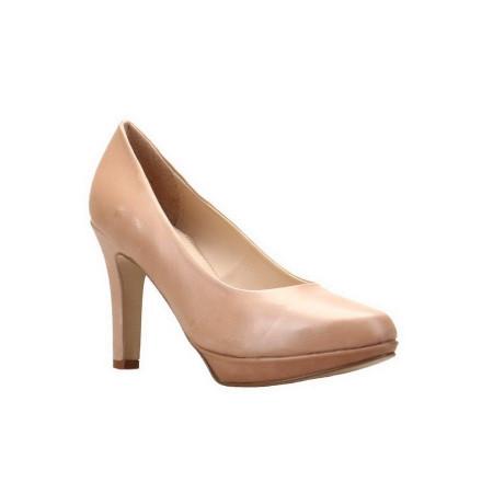 Pantofi cu toc din piele naturala Crina