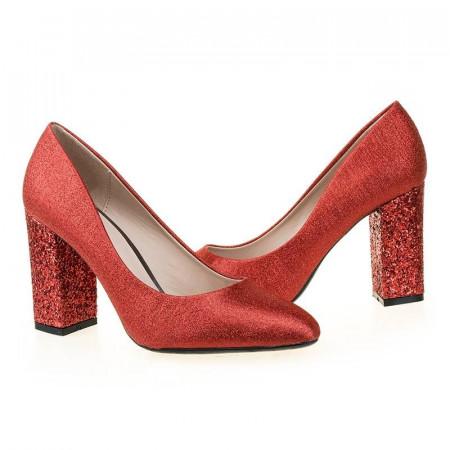 Pantofi de ocazie cu glitter in toc Nadine