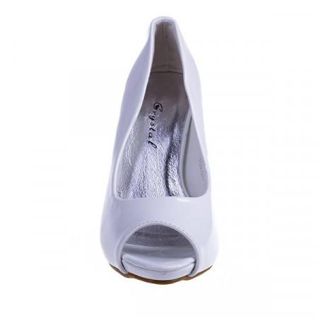 Pantofi Dorotheea alb/pat