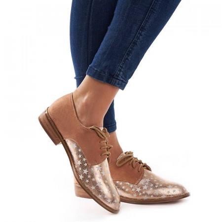 Pantofi office cu interior din piele naturala Rosalia