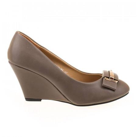 Pantofi office cu platforma chic Tina gri