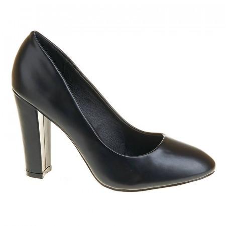 Pantofi office cu toc gros inalt Mia