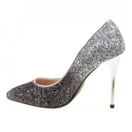 Pantofi stiletto din glitter Martina blk