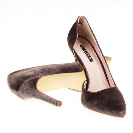 Pantofi stiletto velur Mia