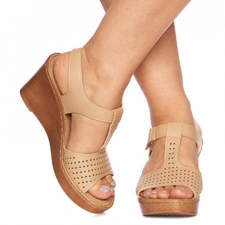 Sandale cu platforma Giulietta bej