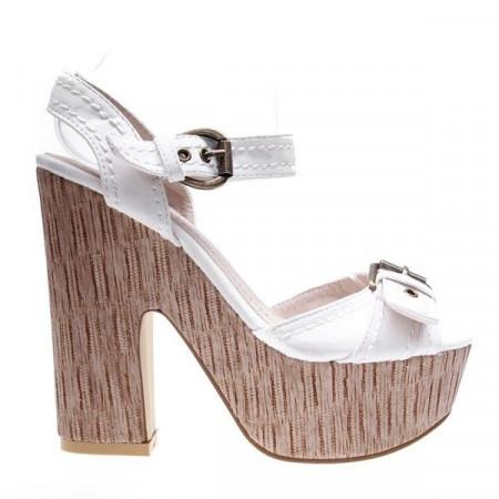Sandale platforma Mary albe